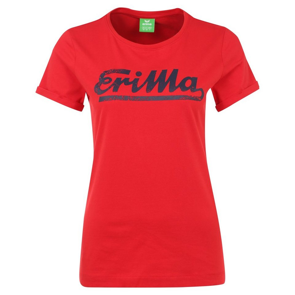 ERIMA Retro T-Shirt Damen in rot/new navy