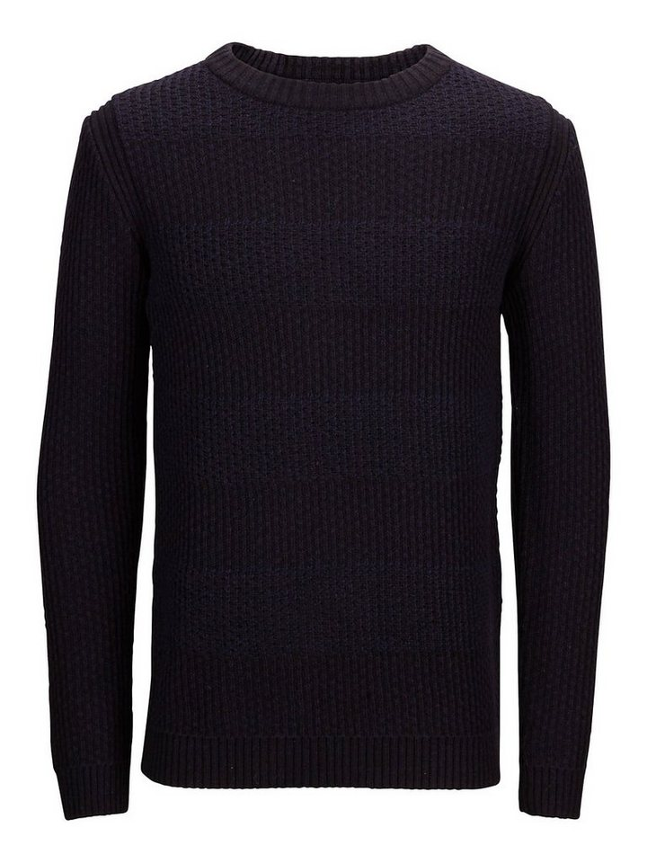 Selected Crew Neck- Strickpullover in Total Eclipse