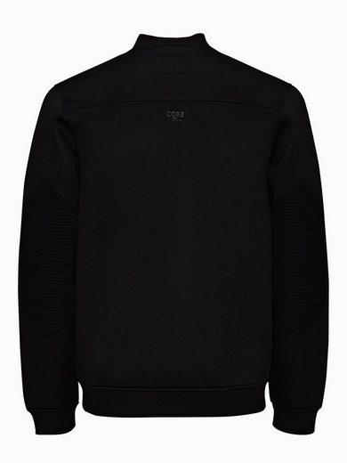 Jack & Jones Neopren Reißverschluss-Baseball- Sweatshirt