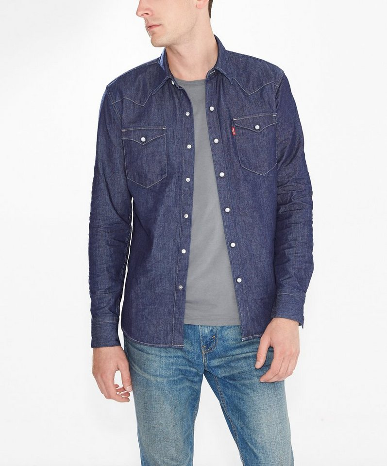 Levi's® Jeanshemd »Barstow Western Shirt« in Red Cast Rinse
