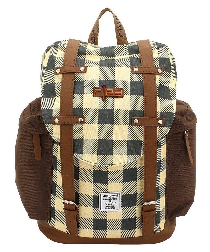 F23 Rucksack mit gepolstertem Laptopfach, »Check«