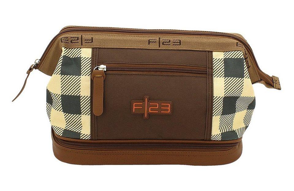 F23 Kulturtasche mit Nassfach, »Check«
