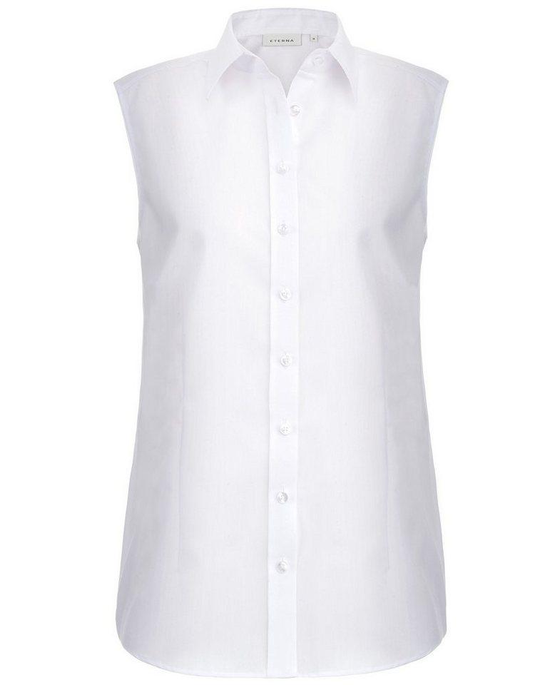 ETERNA ohne Arm Bluse »COMFORT FIT« in weiß