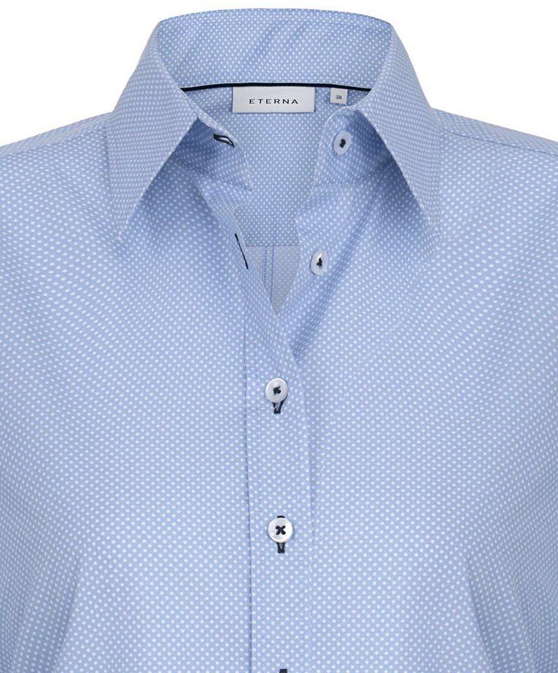 ETERNA 1/1-Arm Bluse »COMFORT FIT« in blau