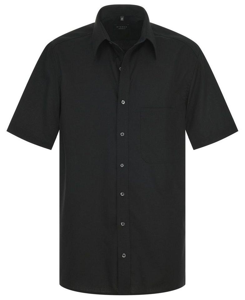 ETERNA Kurzarm Hemd »COMFORT FIT« in schwarz