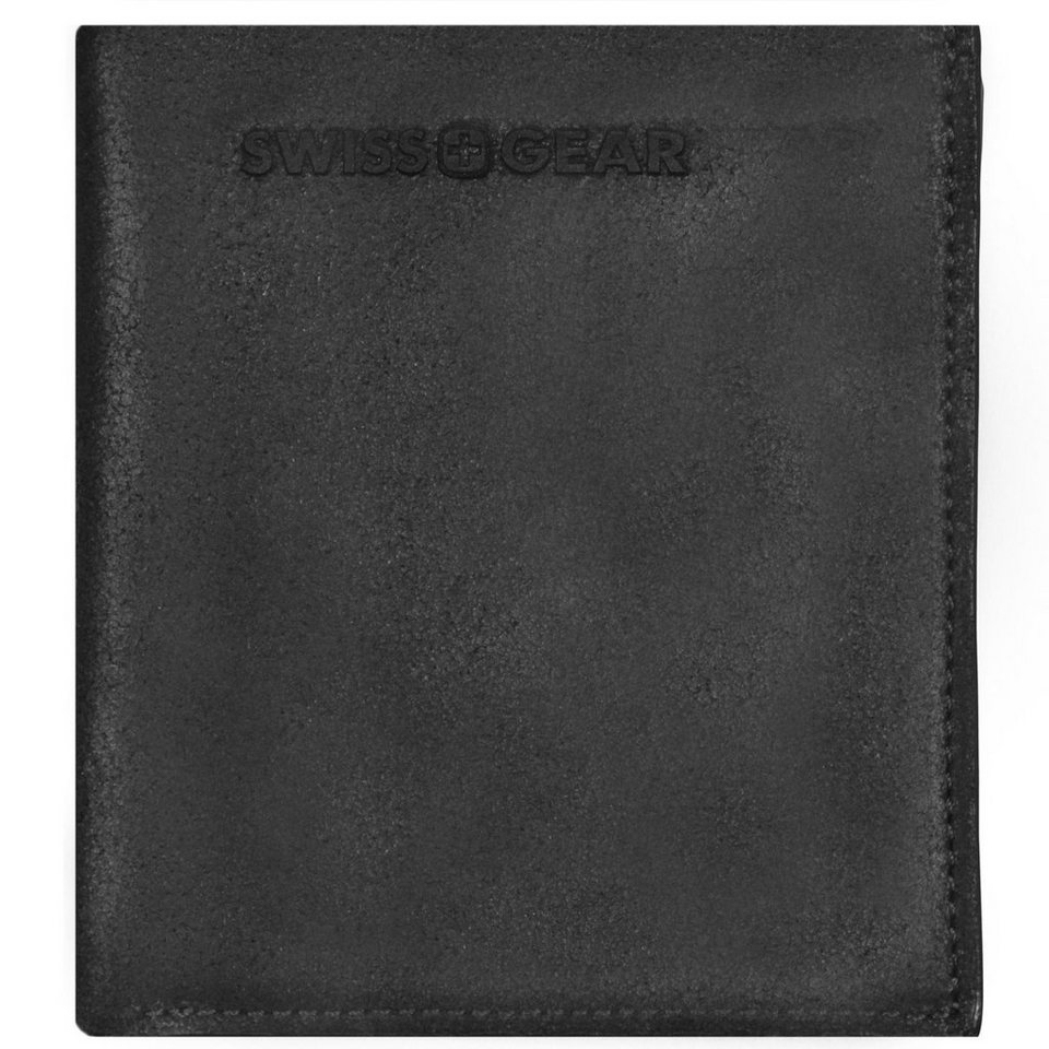 Wenger Swiss Gear Foggy Geldbörse Leder 10 cm in schwarz