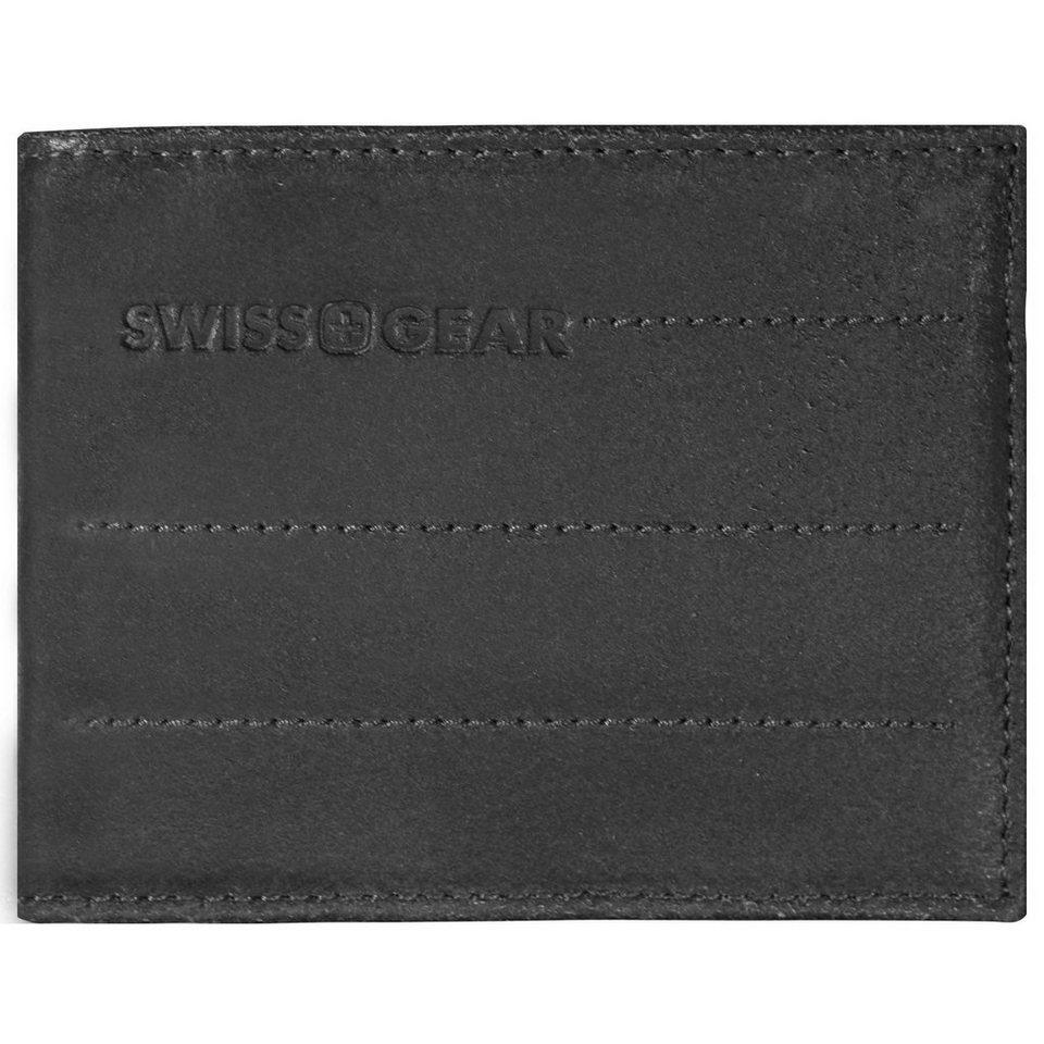 Wenger Swiss Gear Street Hunter Geldbörse Leder 11,5 cm in schwarz