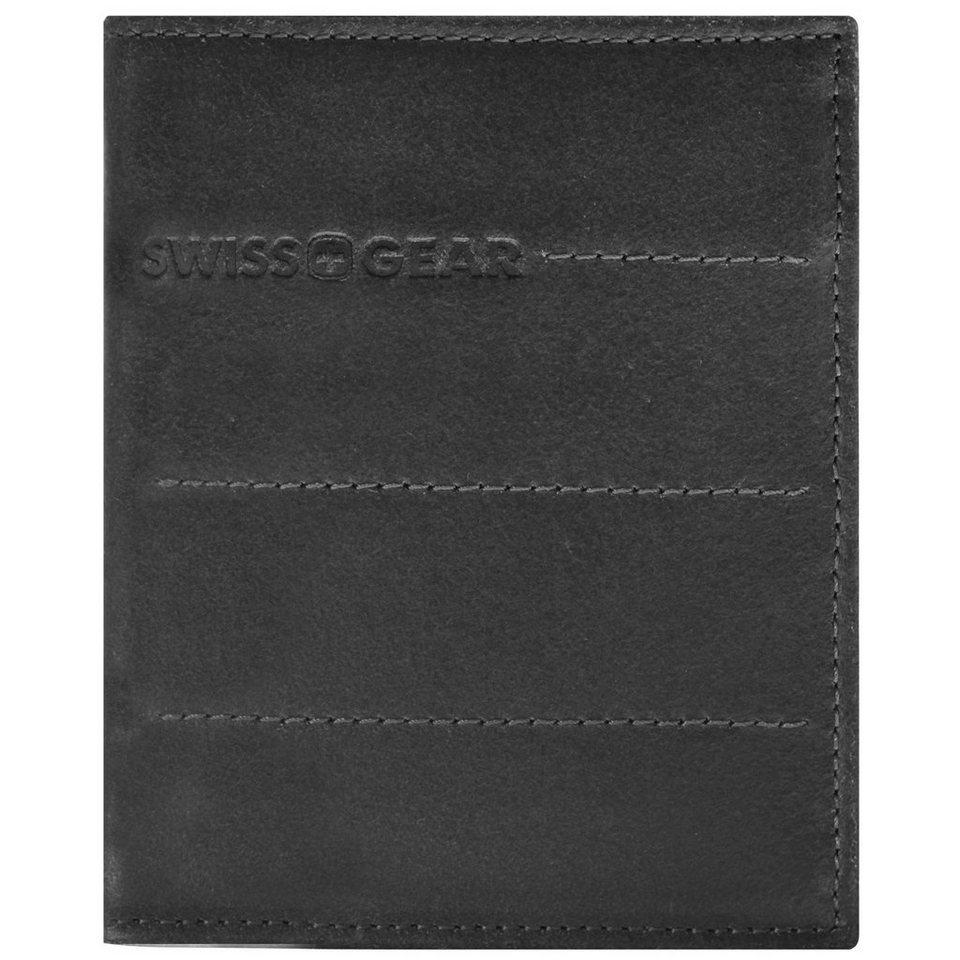 Wenger Swiss Gear Street Hunter Geldbörse Leder 9,5 cm in schwarz