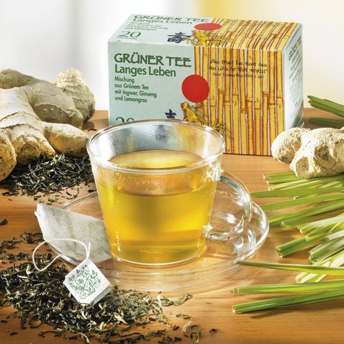 Schrader Teebeutel Grüner Tee Langes Leben