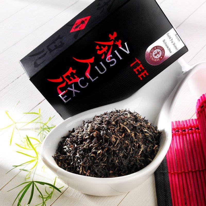 Schrader Schwarzer Tee Assam Gold Tip Domni SFTGFOP1