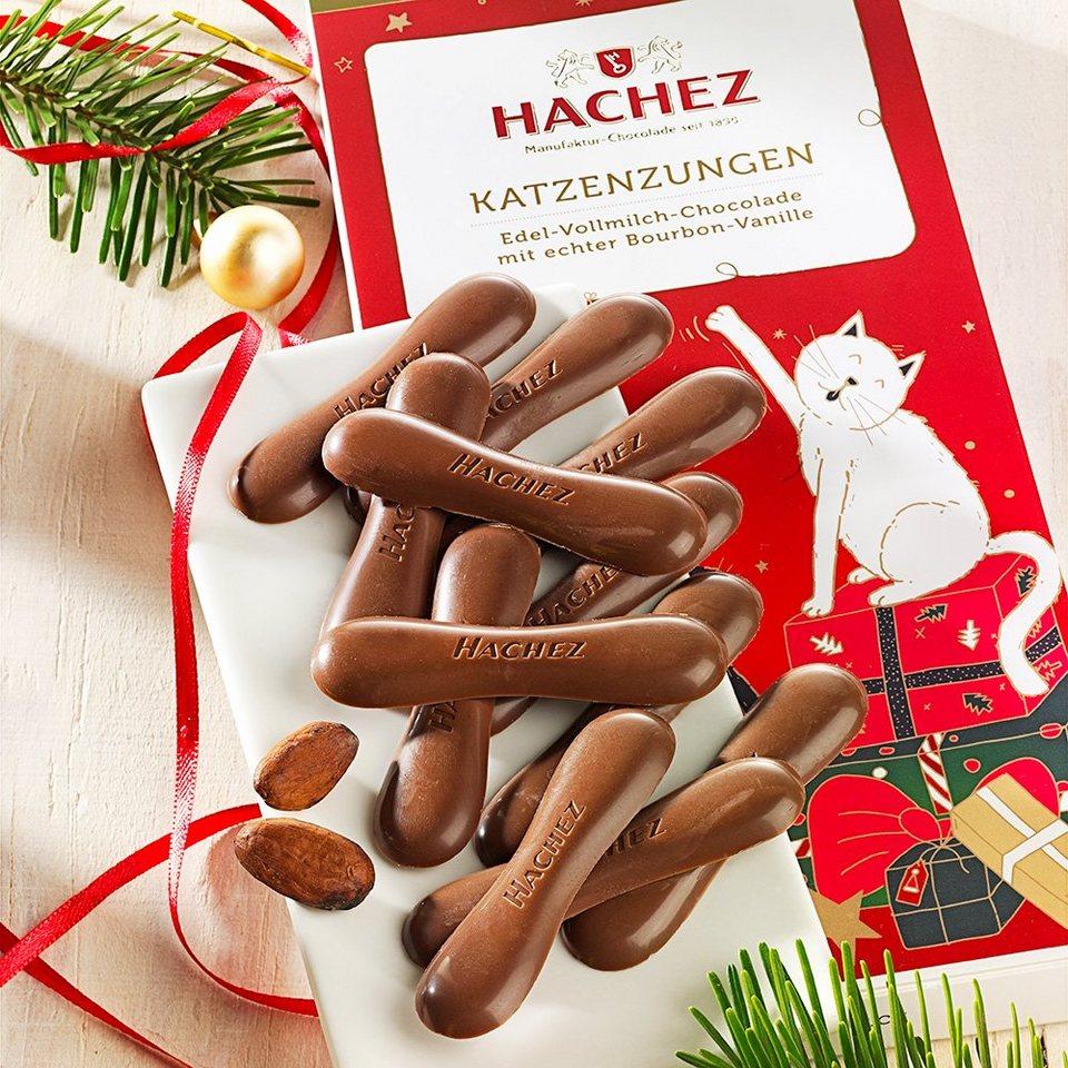 Hachez Hachez Schokolade Weihnachts-Katzenzungen