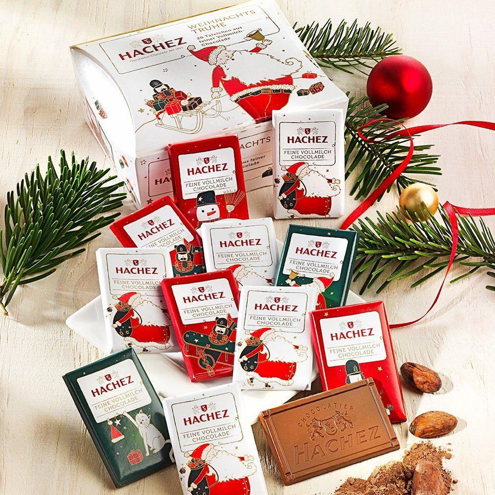 Hachez Hachez Schokolade Weihnachtstruhe