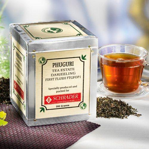 Schrader Schwarzer Tee Darjeeling First Flush Phuguri FTGFOP1 Bio