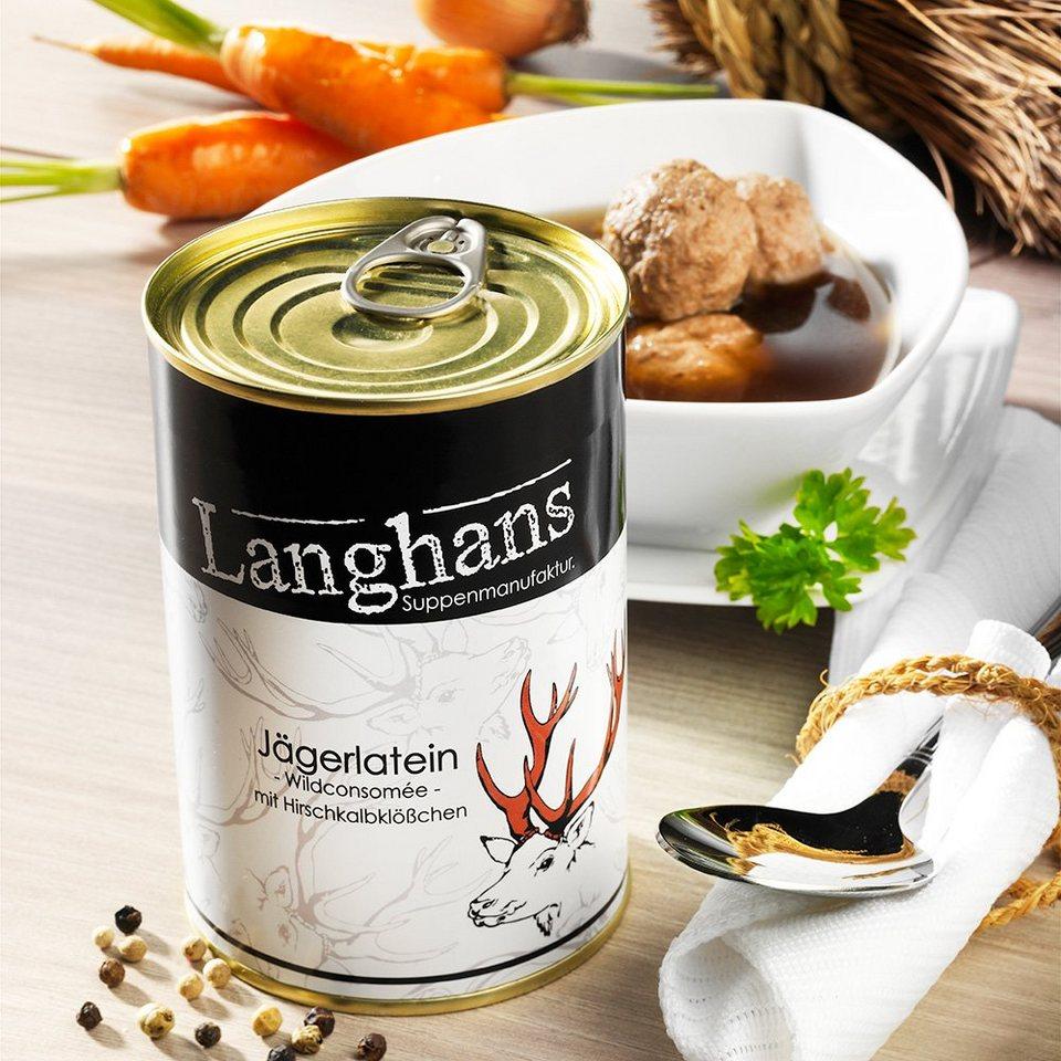 Schrader Langhans Jägerlatein Wildconsomée mit Hirschkalbklößchen 400 ml