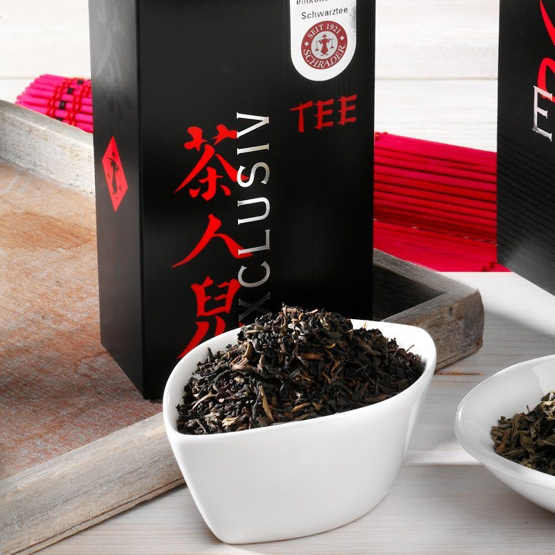 Schrader Schwarzer Tee entkoffeiniert Darjeeling Orange-Pekoe