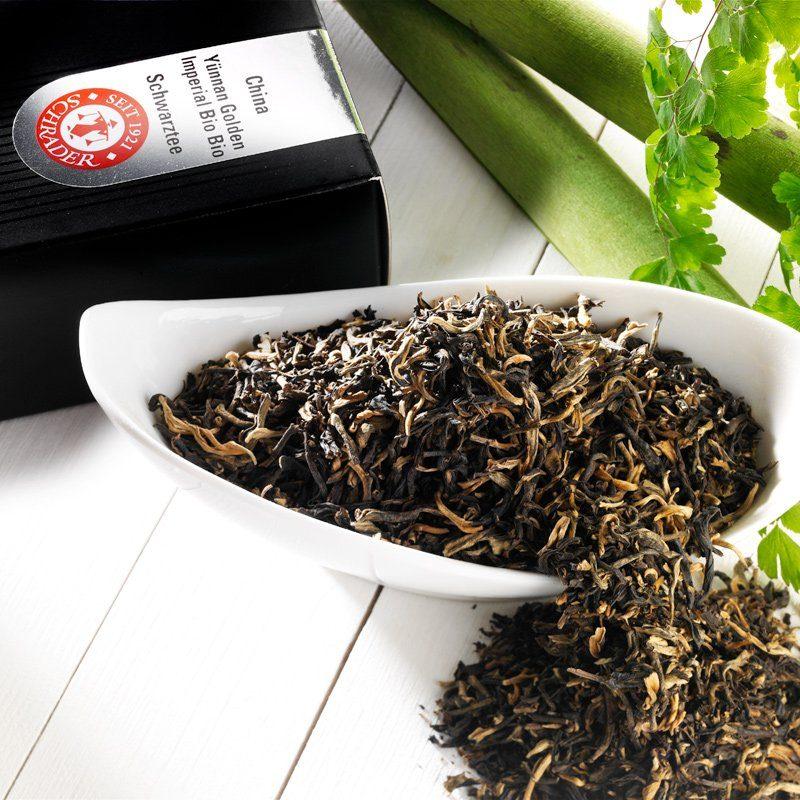 Schrader Schwarzer Tee China Yünnan Golden Imperial Bio