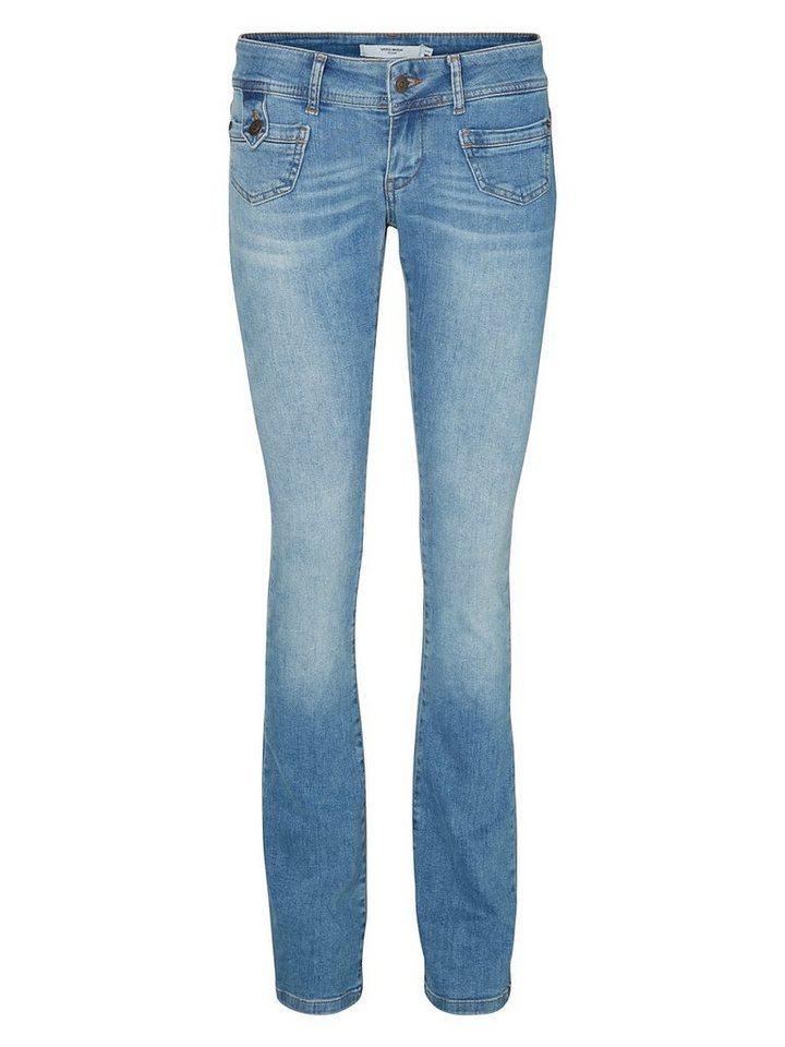 Vero Moda Dina LW Bootcut Jeans in Light Blue Denim