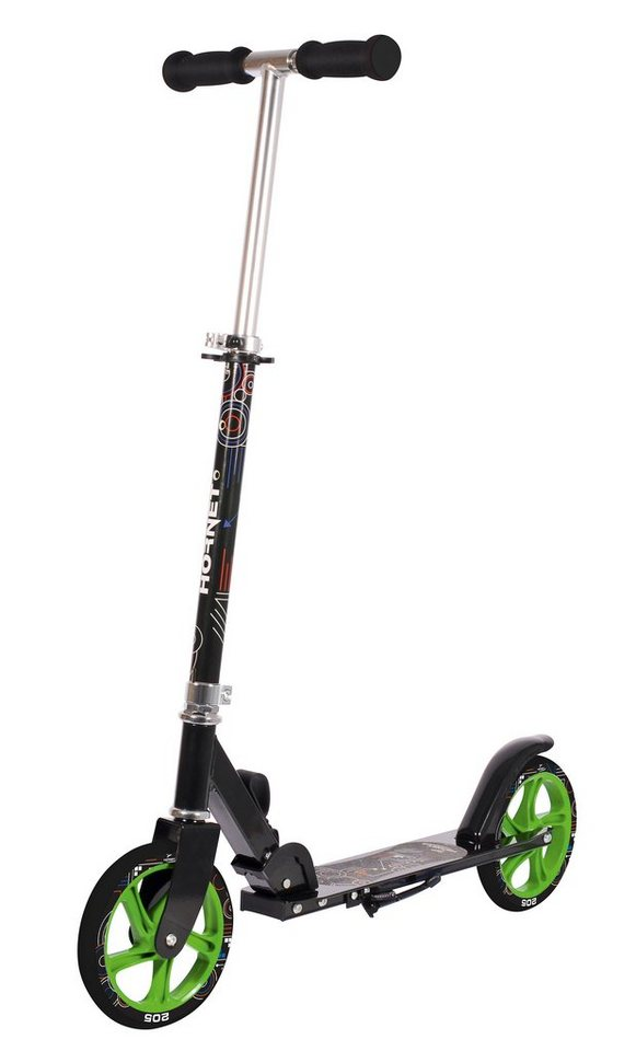 Hudora Scooter, »Hornet 205« in schwarz-grün