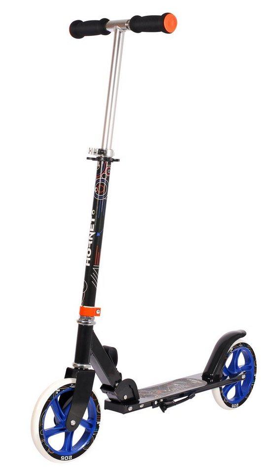 Hudora Scooter, »Hornet 205« in schwarz-blau