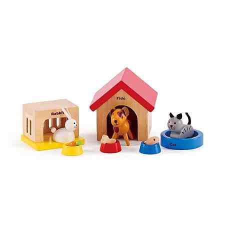 Hape Puppenmöbel, »Haustiere aus Holz für Puppenhaus« (12tlg.)