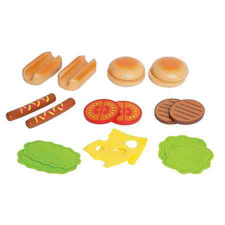 Hape Spielzeuglebensmittel, »Hamburger&HotDogs« (18tlg.)