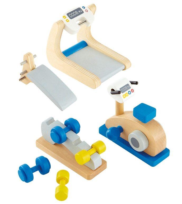 Hape Puppenhaus Möbel »Fitnessstudio« 8-tlg.