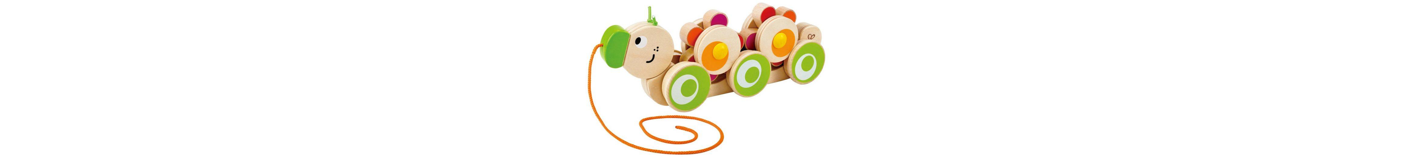 Hape Holzspielzeug zum Ziehen, »Rolli die Raupe« (3tlg.)
