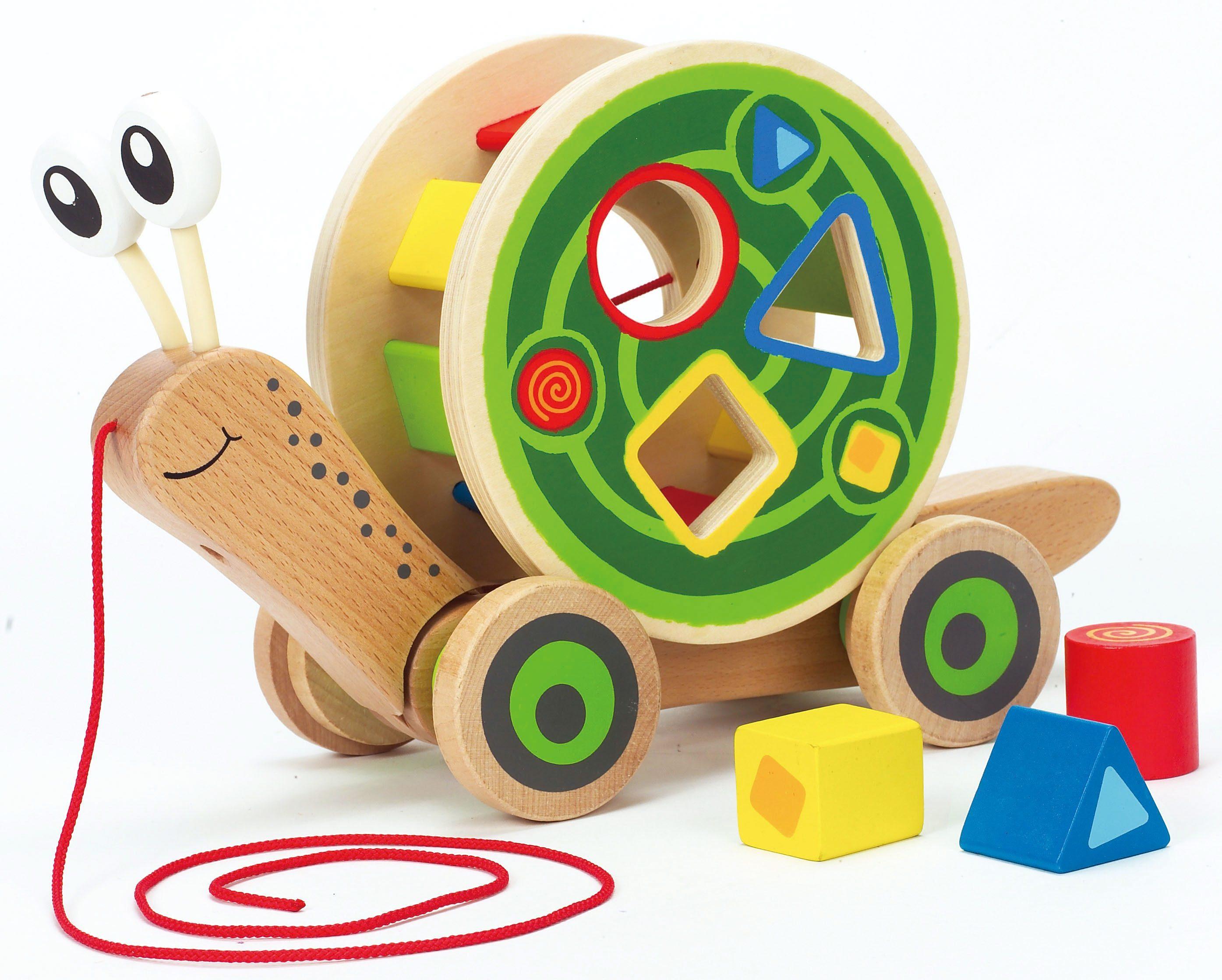 Hape Nachziehspielzeug mit Bauklötzen, »Schnecke«