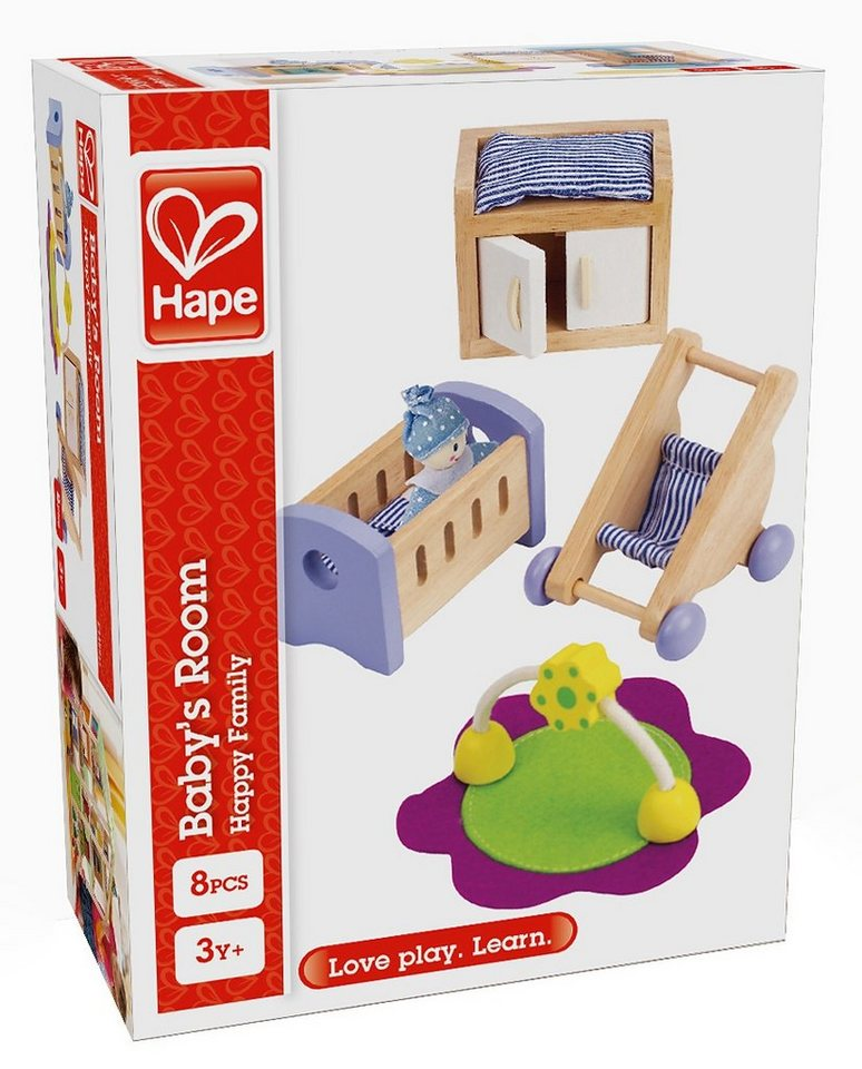 Hape Puppenhausmöbel, »Babyzimmer« (8tlg.)