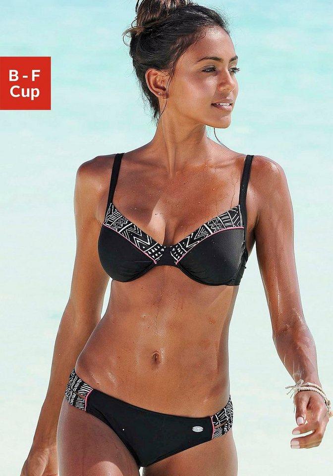 Bademode - KangaROOS Bügel Bikini mit bedruckten Kontrasteinsätzen ›  - Onlineshop OTTO