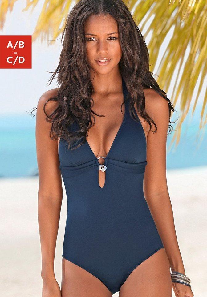 Bademode - s.Oliver Beachwear Badeanzug, mit Accessoires › blau  - Onlineshop OTTO