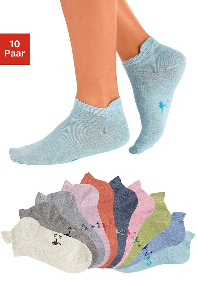 KangaROOS Sneakersocken (10 Paar) mit erhöhter Ferse in Farbsortiment