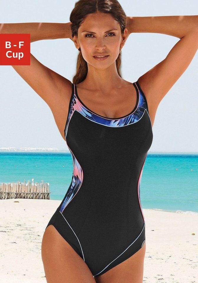 Badeanzug, Sunflair in schwarz-blau