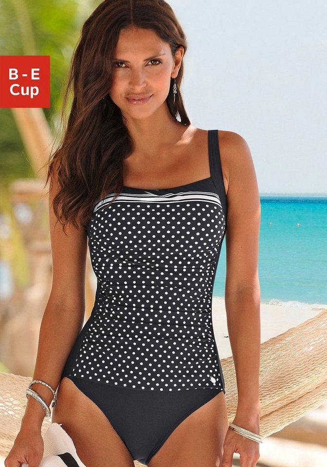 LASCANA Badeanzug »Merilyn« in schwarz-weiß