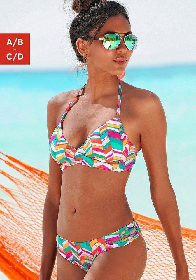 Damen Buffalo Triangel-Bikini in Wickeloptik bunt,mehrfarbig | 04893865750519