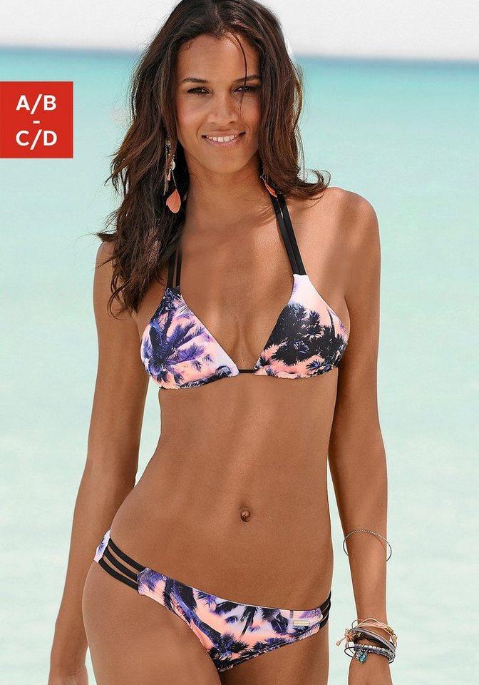 Triangel-Bikini, sunseeker in schwarz bedruckt