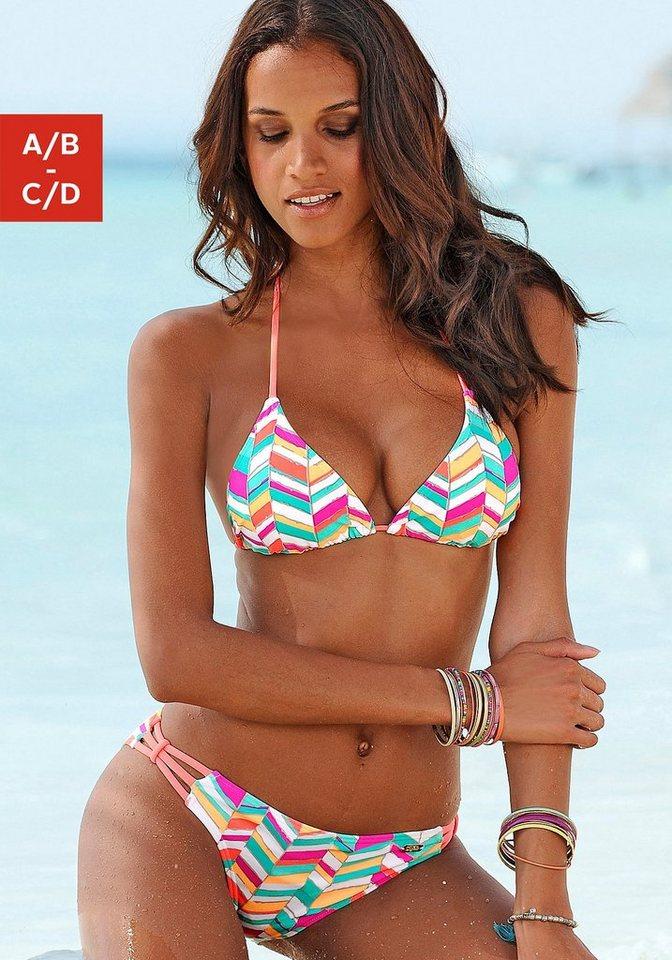 Damen Buffalo Triangel-Bikini im butem Grafik-Design bunt,mehrfarbig | 04893865751097