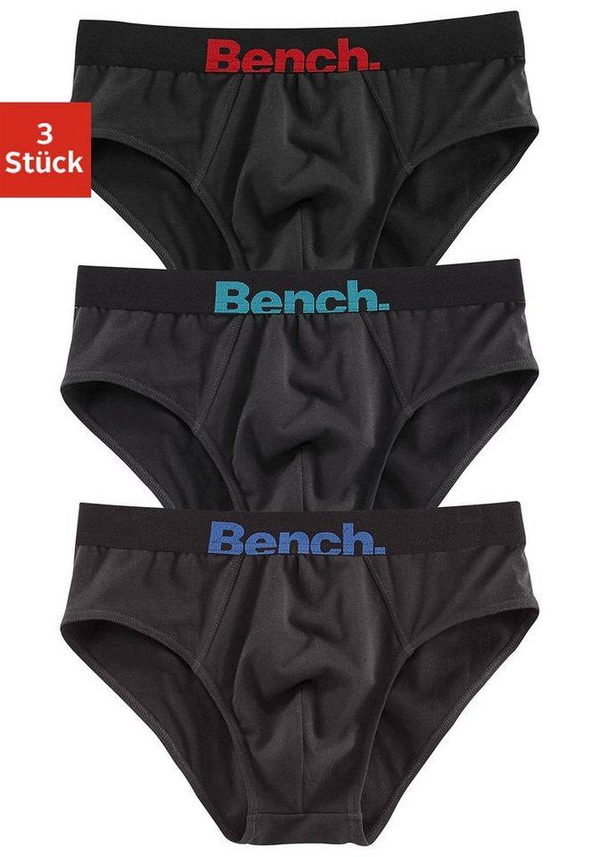Bench Slips (3 Stück) mit kontrastfarbenem Webbund, »Cotton made in Africa« in 3x schwarz