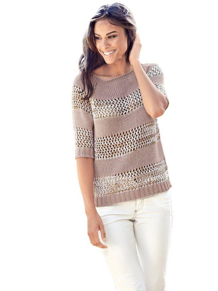 LINEA TESINI by Heine Crochetpullover in rosé/ecru