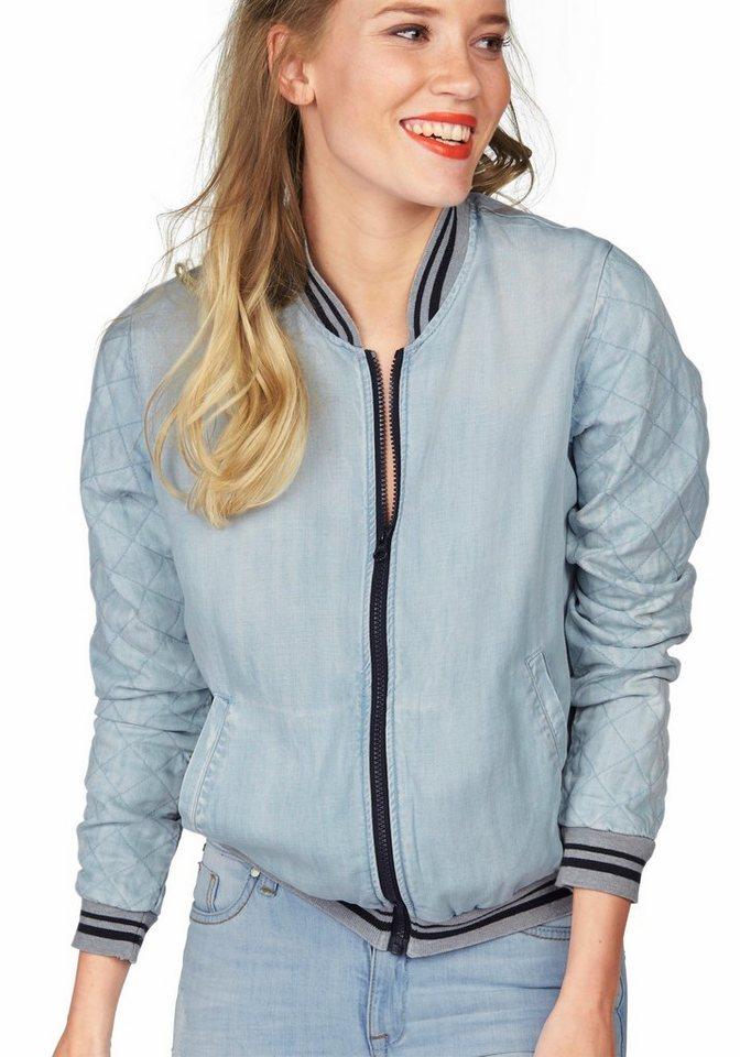 Colorado Denim Blouson »Olga« mit aufwendiger Ziersteppung in hellblau-jeans