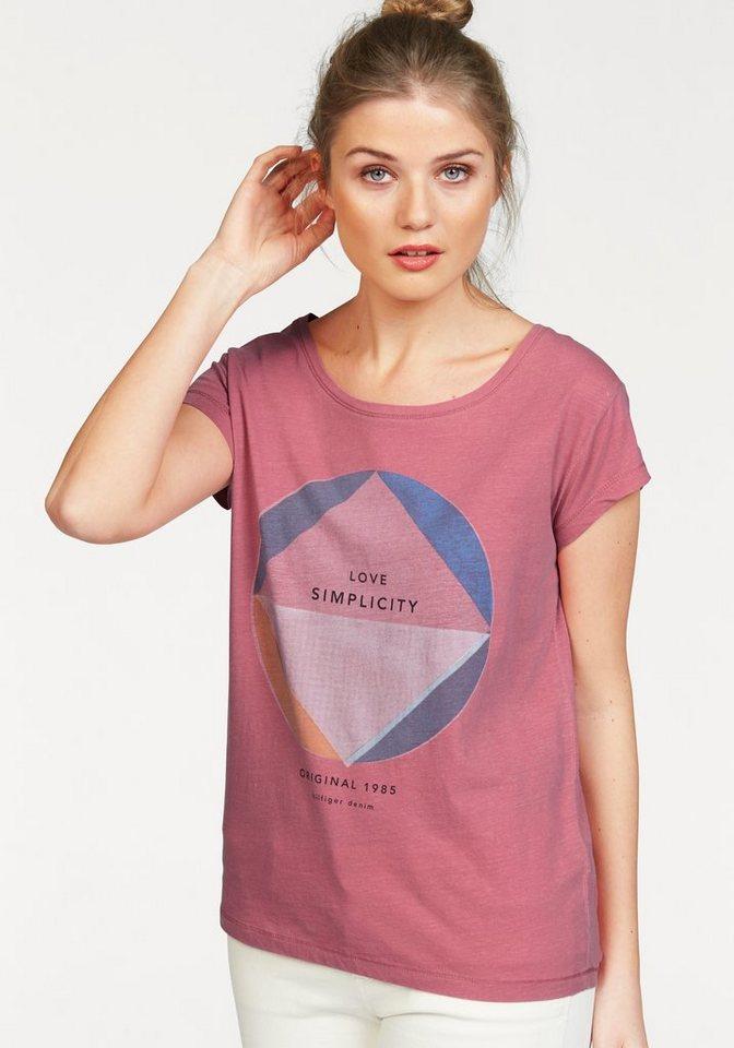 Hilfiger Denim T-Shirt »Coastle« in dunkelrosa