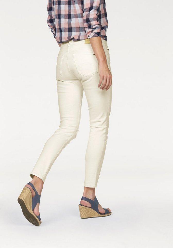 Hilfiger Denim 7/8-Jeans »Nora« Destroyed Effekte in weiß