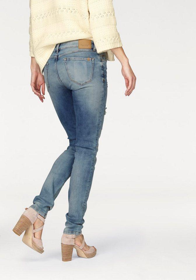 Marc O'Polo DENIM Skinny-fit-Jeans »Alva« mit Destroyed-Effekten in blue-stone