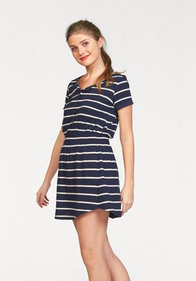 LTB Jerseykleid »Riwola« in dunkelblau-weiß-gestreift