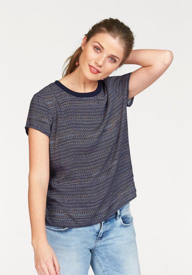 Vero Moda Blusenshirt »Lou« mit Minimaldruck in blau-bedruckt