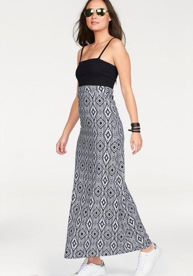 KangaROOS Maxikleid als Kleid und Rock tragbar in schwarz-weiß