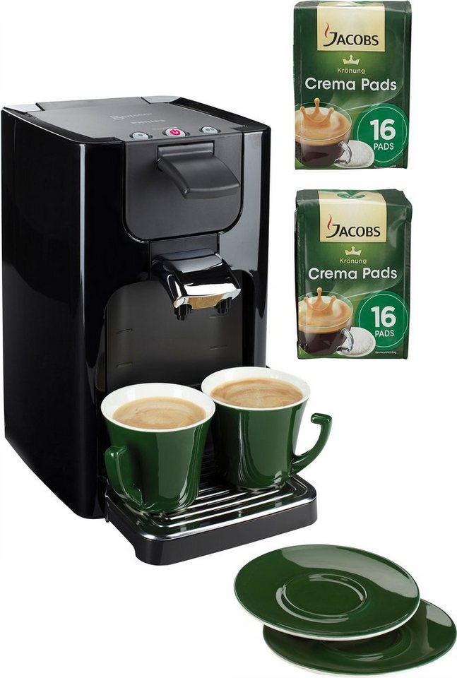 senseo kaffeepadmaschine senseo quadrante hd7863 60 inkl. Black Bedroom Furniture Sets. Home Design Ideas