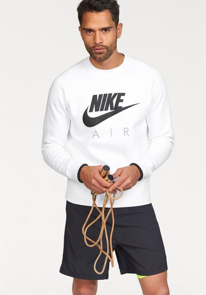 Nike AW77 FLEECE CREW-AIR HERITAGE Sweatshirt in Weiß