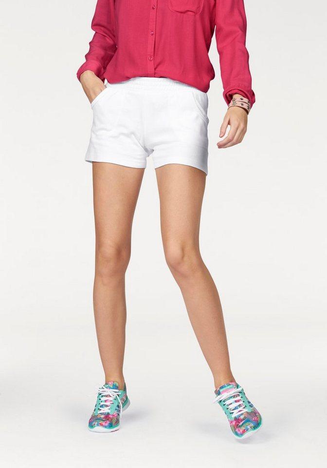 AJC Shorts aus Sweat Ware in weiß