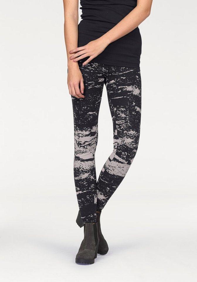 AJC Leggings mit schwarz grauem Druck in schwarz-grau